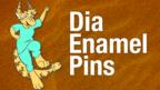Dia Enamel Pins